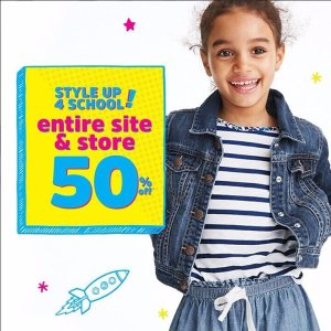 Free Shipping + Extra 20% Off $50+Entire Site 50% Off @ OshKosh BGosh