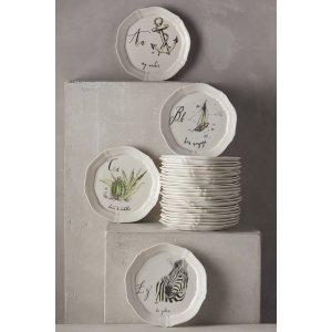Calligrapher Monogram Canape Plate | Anthropologie