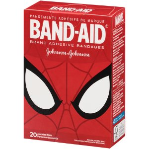Johnson & Johnson® Band-Aid® 20-Count Ultimate Spider-Man Adhesive Bandages Assorted Sizes - Bed Bath & Beyond