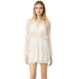 Zimmermann Oleander Lattice Romper | 15% off first app purchase with code: 15FORYOU