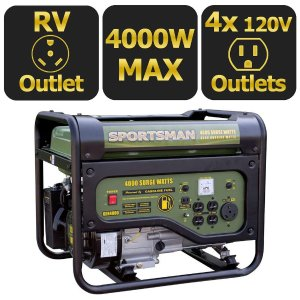 Sportsman 4,000-Watt Gasoline Powered Portable Generator with RV Outlet-801187 - The Home Depot