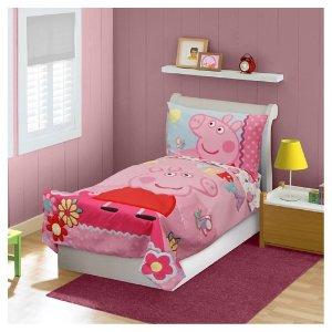 Peppa Pig 4 Pc Toddler Bed Set - Pink : Target