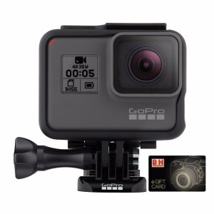 $299.99 + $25 GCGoPro HERO5 Black 4K Action Camera with Remote