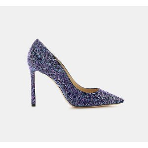 Jimmy Choo Romy 100 Coarse Glitter Fabric Pointy-Toe Pump Pumps | ELEVTD Free Shipping & Returns