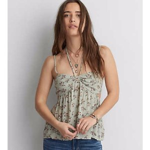 AEO Cutout Convertible Cami , Mint | American Eagle Outfitters