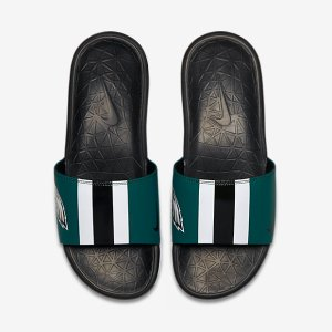 Nike Benassi Solarsoft (NFL Eagles) Men's Slide.