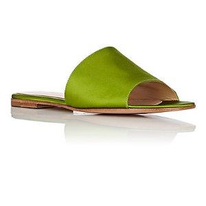 Gianvito Rossi Capri Satin Slide Sandals | Barneys New York