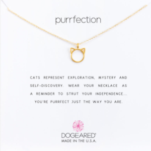 Purrfection Necklace, Gold Dipped | Dogeared