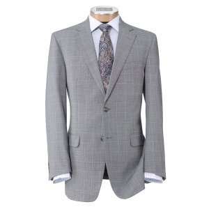 Traveler Tailored Fit 2 Button Suit with Plain Front Trousers - Big & Tall CLEARANCE  - All Clearance | Jos A Bank