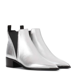 Jensen metallic leather ankle boots