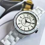 DIOR VIII Automatic White Dial White Ceramic Ladies Watch Item No. CD1245E3C001