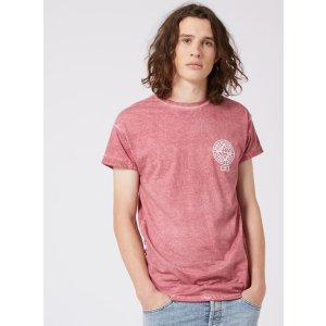 Pink Muscle Fit Roller Sleeve T-Shirt - TOPMAN USA