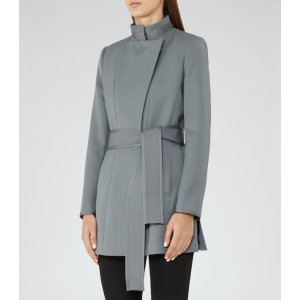 Lucy Moss Belted Coat - REISS