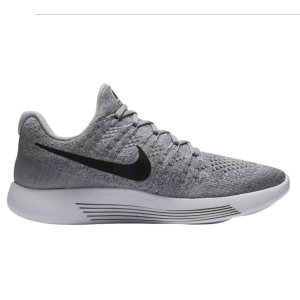 Nike LunarEpic Low Flyknit 2 女士灰色慢跑鞋
