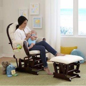 $109.99Stork Craft 摇椅 + 踏脚凳 套装