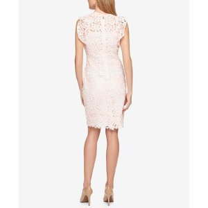 Tommy Hilfiger Lace Flutter-Sleeve Dress, Only at Macy's - Dresses - Women - Macy's