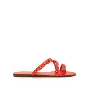 Taya chain-embellished satin sandals | Sophia Webster