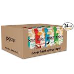 Popchips 薯片零食包 4个风味品种,0.8盎司(24包)