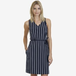 Striped Sleeveless Dress - Sky Blue Wash | Nautica