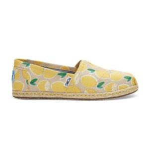 Yellow Lemons Women's Espadrilles   TOMS®
