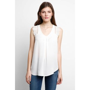 Abbeline Woven Lace Tank Top   South Moon Under