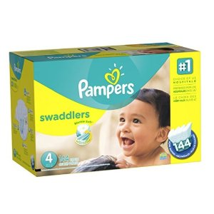 $18.48 Pampers Swaddlers Diapers Size 4, 144 Count