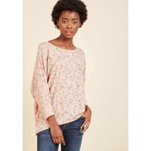 Sports Rapport Top in Blush Blossom | ModCloth