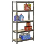 Muscle Rack UR301260PB5P-SV Silver Vein Steel Storage Rack, 5 Adjustable Shelves