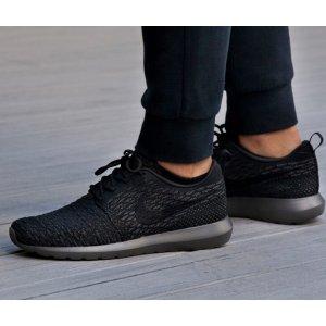 Nike Roshe Flyknit - Men's - Running - Shoes - Black/University Red/Deep Royal/White