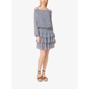 Printed Off-the-shoulder Dress | Michael Kors