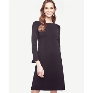 Fluted Sweater Dress | Ann Taylor