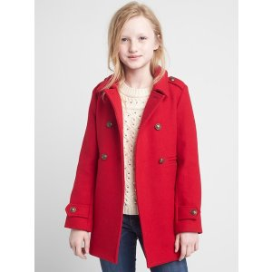 Double-face wool peacoat