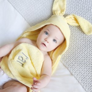 Yellow Bunny Hooded Towel | My 1st Years