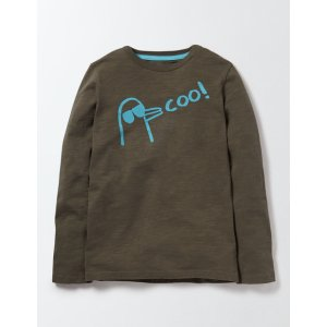 Long Sleeve Logo T-Shirt 81301 Tops & T-Shirts at Boden