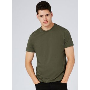 Khaki Jersey Slim Fit T-Shirt - Men's T-Shirts and Tanks 2 for $16 - Clearance - TOPMAN USA