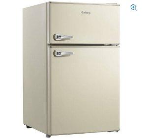 Galanz 3.1 cu ft Double Door Blue Cabinet and Door with Retro Door Handle Refrigerator