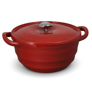 Buy Swirl 5.5 Quart Red Cast Iron Dutch Oven online at Mikasa.com