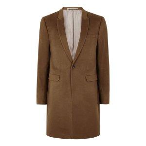 Tobacco Cashmere Overcoat - Coats & Jackets - Clothing