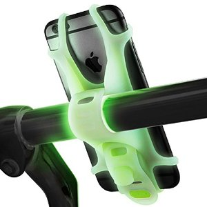 Mengo Lumi Bike Mount For iPhone, Samsung, LG, HTC, Fits Any Device With 4-6 Inch Screens (Glow In The Dark Bicycle Mount) Universal