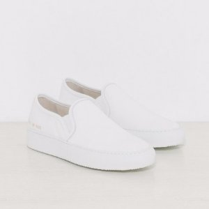 Woman by Common Tournament Slip On Canvas in White