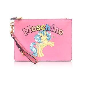 Moschino My Little Pony Pink Clutch w/Wristlet at FORZIERI
