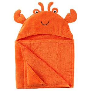 Baby Boy Crab Hooded Towel | Carters.com
