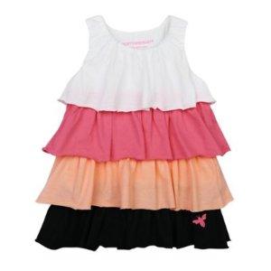 Kids Colorblock Ruffle Dress