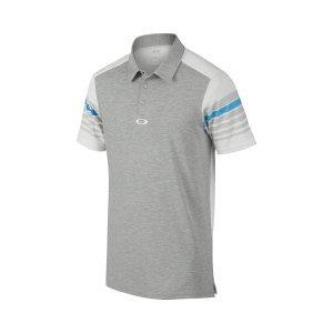 Oakley Wyatt Tailored Fit Golf Polo in HEATHER GRAY