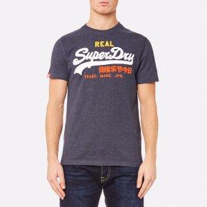 Superdry Men's Vintage Logo Tri Entry T-Shirt - Midnight Marl