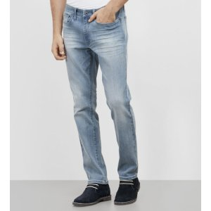 Slim-Fit Light Washed Denim | Kenneth Cole