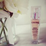 With TEINT MIRACLE RADIANT FOUNDATION @ Lancome