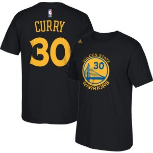 adidas Youth Golden State Warriors Steph Curry #30 Black T-Shirt