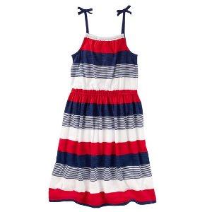Kid Girl Striped Midi Dress | OshKosh.com