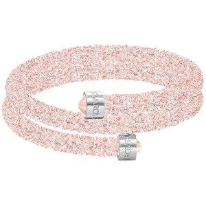 Crystaldust Double Bangle, Pink - Jewelry - Swarovski Online Shop